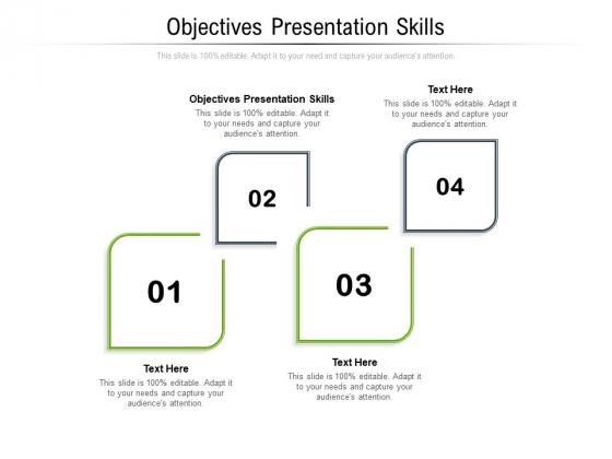 Objectives Presentation Skills Ppt PowerPoint Presentation Gallery Mockup Cpb Pdf