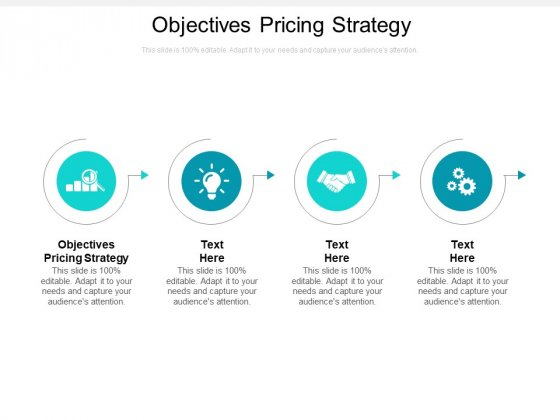 Objectives Pricing Strategy Ppt PowerPoint Presentation Ideas Show Cpb