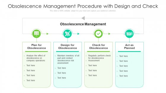 Obsolescence Management Procedure With Design And Check Ppt PowerPoint Presentation File Master Slide PDF