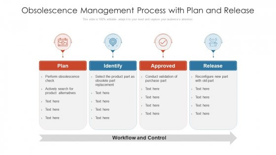 Obsolescence Management Process With Plan And Release Ppt PowerPoint Presentation Gallery Topics PDF