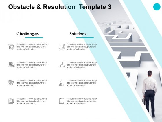 Obstacle And Resolution Management Ppt PowerPoint Presentation Show Themes