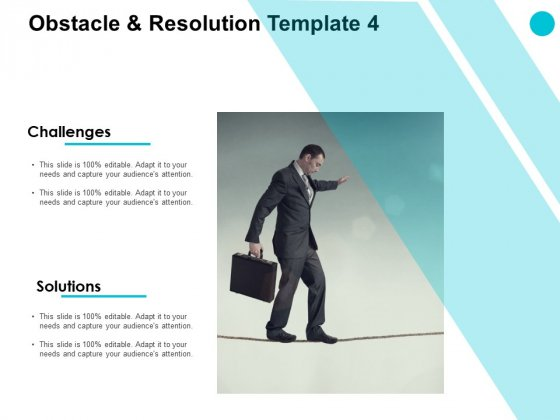 Obstacle And Resolution Marketing Ppt PowerPoint Presentation Styles Slides