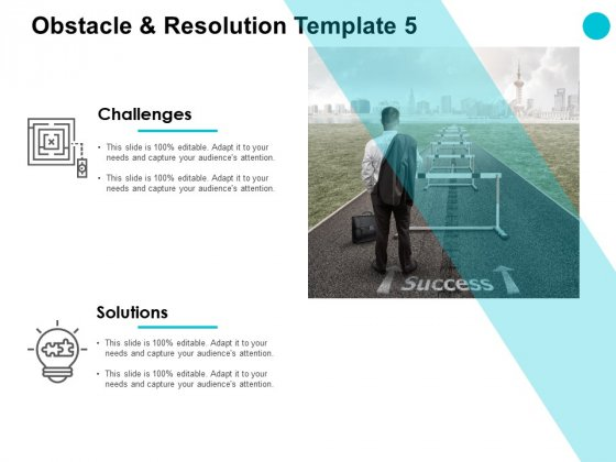 Obstacle And Resolution Success Ppt PowerPoint Presentation Styles Display
