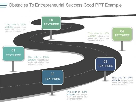 Obstacles To Entrepreneurial Success Good Ppt Example