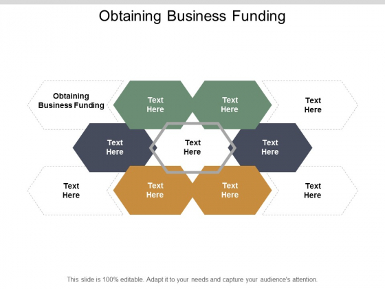 Obtaining Business Funding Ppt PowerPoint Presentation Show Background Cpb
