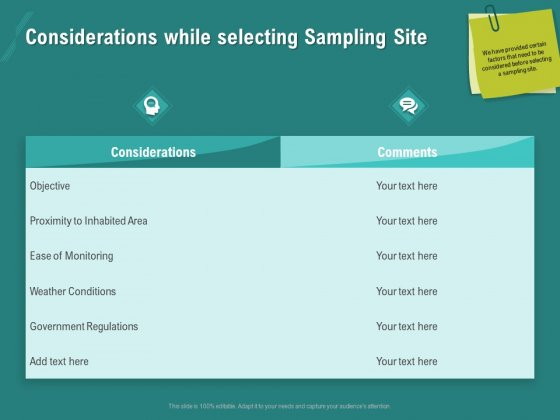 Ocean Water Supervision Considerations While Selecting Sampling Site Brochure PDF