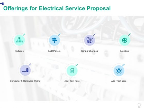 Offerings For Electrical Service Proposal Ppt PowerPoint Presentation Inspiration Visuals