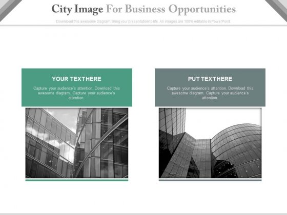 Office Buildings Compare Chart Powerpoint Slides