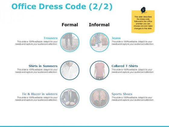 Office Dress Code Business Ppt PowerPoint Presentation Portfolio Rules