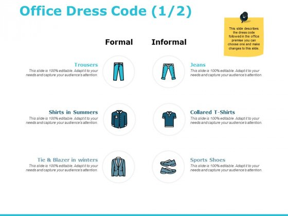 Office Dress Code Marketing Ppt PowerPoint Presentation Icon Skills
