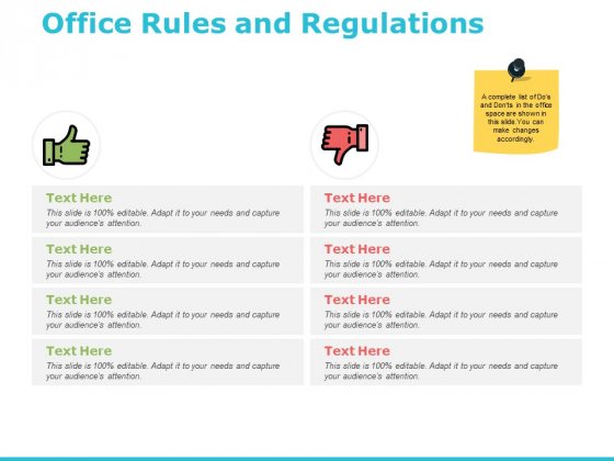Office Rules And Regulations Ppt PowerPoint Presentation File Slide Portrait