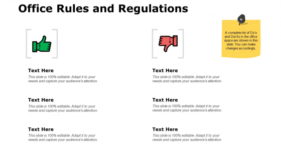 Office Rules And Regulations Ppt PowerPoint Presentation Ideas Graphics Pictures