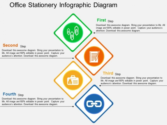 Office Stationery Infographic Diagram Powerpoint Templates