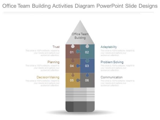 Office Team Building Activities Diagram Powerpoint Slide Designs