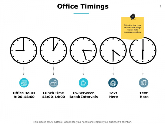 Office Timings Management Ppt PowerPoint Presentation Pictures Templates