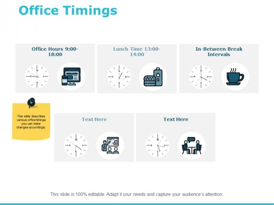 Office Timings Ppt PowerPoint Presentation Gallery Master Slide