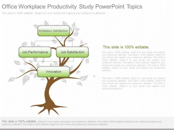 Office Workplace Productivity Study Powerpoint Topics