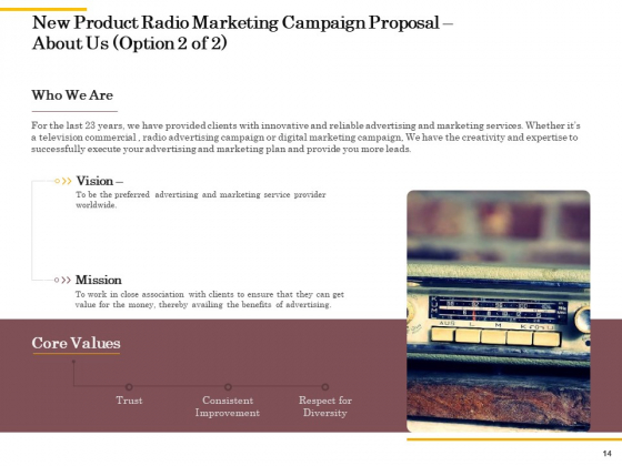 Offline_Promotional_Strategy_For_New_Product_Proposal_Ppt_PowerPoint_Presentation_Complete_Deck_With_Slides_Slide_14