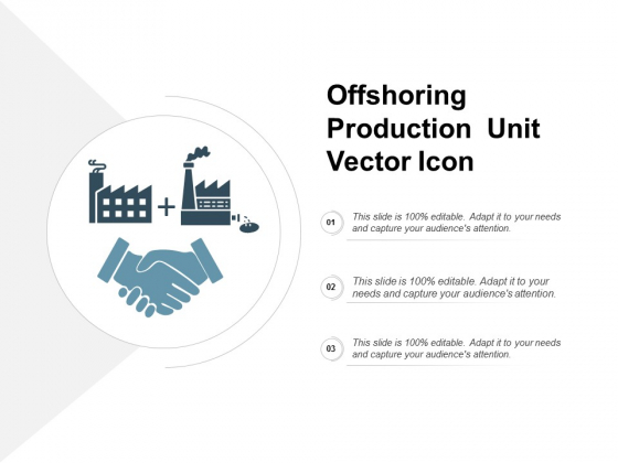 Offshoring Production Unit Vector Icon Ppt PowerPoint Presentation Professional Brochure