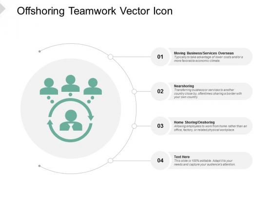 Offshoring Teamwork Vector Icon Ppt PowerPoint Presentation Professional Deck