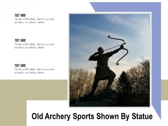 Old Archery Sports Shown By Statue Ppt PowerPoint Presentation Sample PDF