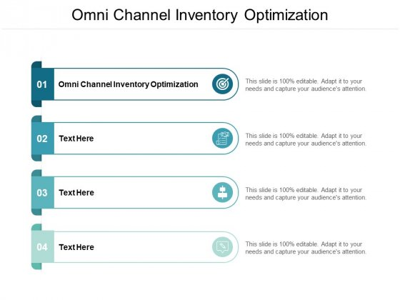 Omni Channel Inventory Optimization Ppt PowerPoint Presentation Pictures Templates Cpb