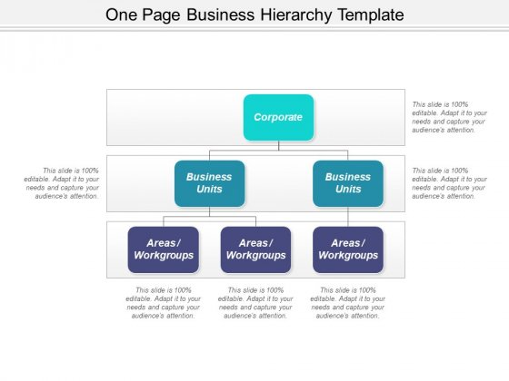 One Page Business Hierarchy Template Ppt PowerPoint Presentation Styles Tips PDF