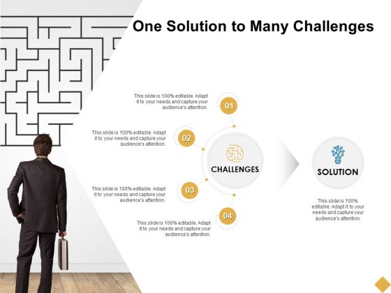 One Solution To Many Challenges Ppt PowerPoint Presentation Slides Samples
