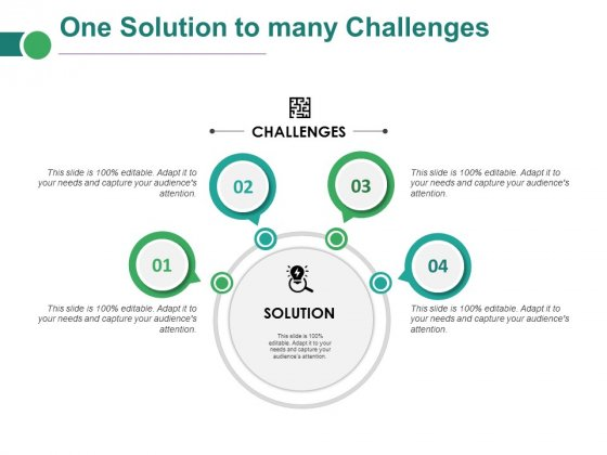 One Solution To Many Challenges Ppt PowerPoint Presentation Templates