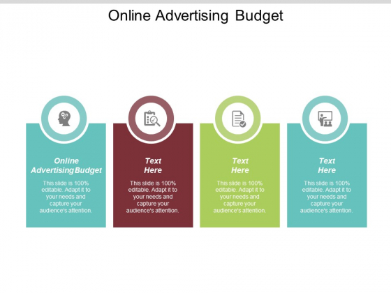 Online Advertising Budget Ppt PowerPoint Presentation Show Cpb