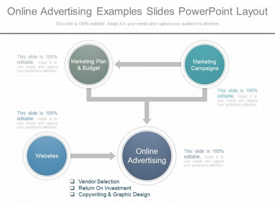 Online Advertising Examples Slides Powerpoint Layout