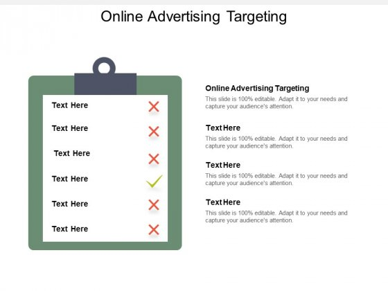 Online Advertising Targeting Ppt PowerPoint Presentation Professional Templates Cpb