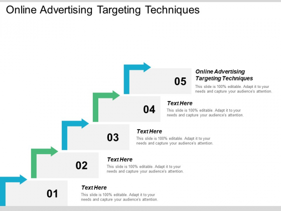 Online Advertising Targeting Techniques Ppt PowerPoint Presentation Gallery Icons Cpb