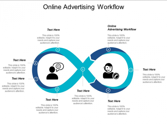 Online Advertising Workflow Ppt PowerPoint Presentation Gallery Graphic Images Cpb
