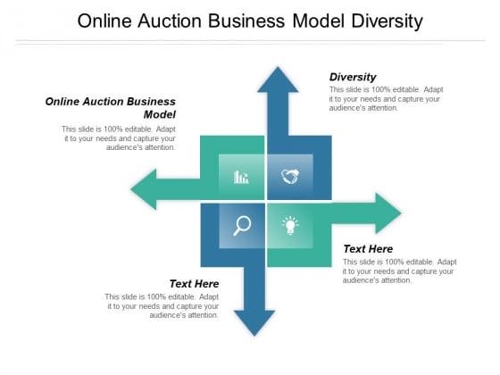Online Auction Business Model Diversity Ppt PowerPoint Presentation Slides Mockup