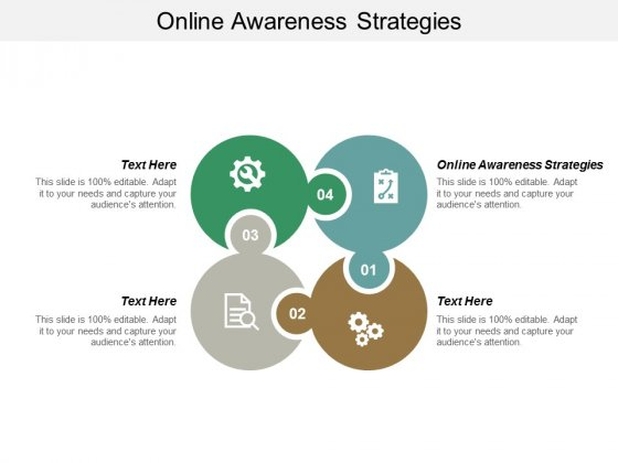 Online Awareness Strategies Ppt PowerPoint Presentation Infographics Designs Download Cpb