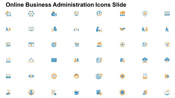 Online Business Administration Icons Slide Ppt Portfolio Clipart Images PDF