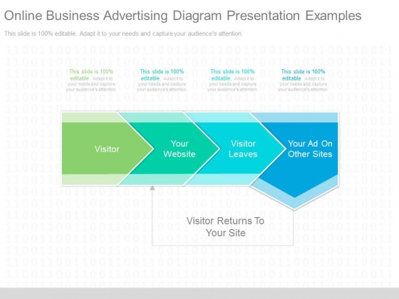 Online Business Advertising Diagram Presentation Examples