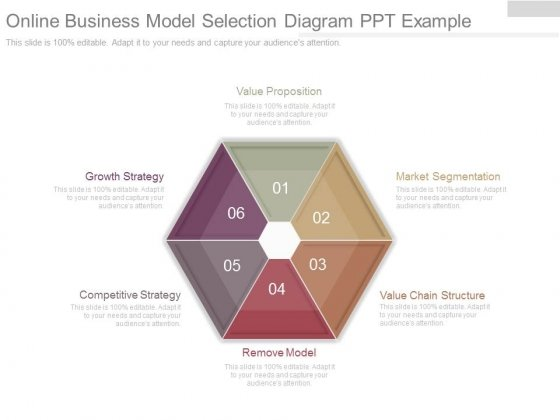 Online Business Model Selection Diagram Ppt Example