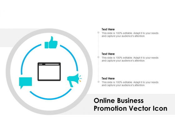 Online Business Promotion Vector Icon Ppt PowerPoint Presentation Icon Visuals