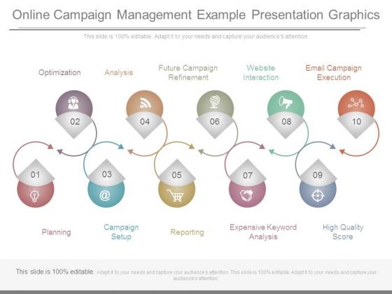 Online Campaign Management Example Presentation Graphics