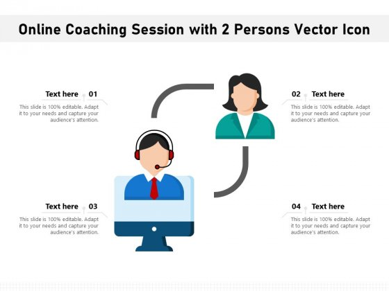 Online Coaching Session With 2 Persons Vector Icon Ppt PowerPoint Presentation Icon Graphics Template PDF