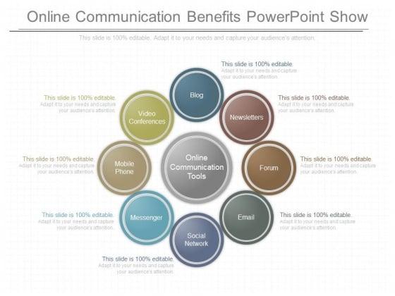 Online Communication Benefits Powerpoint Show