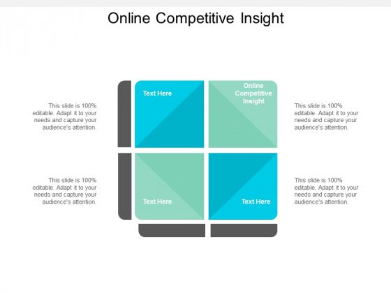 Online Competitive Insight Ppt PowerPoint Presentation Portfolio Themes Cpb