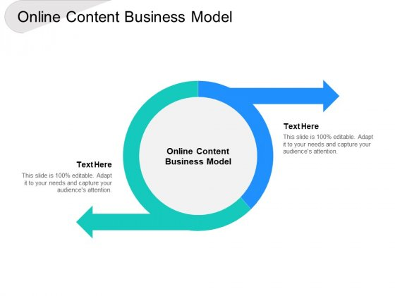 Online Content Business Model Ppt PowerPoint Presentation Show Microsoft Cpb
