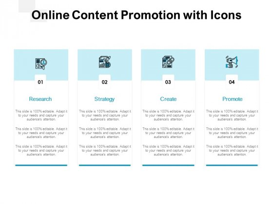 Online Content Promotion With Icons Ppt PowerPoint Presentation Ideas Design Inspiration