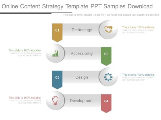 Online Content Strategy Template Ppt Samples Download