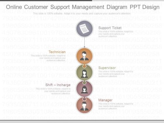 Online Customer Support Management Diagram Ppt Design