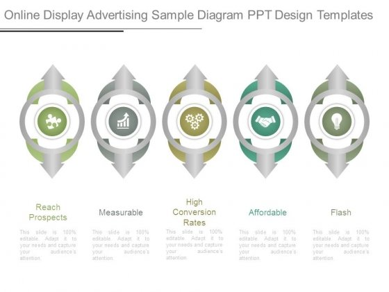 Online Display Advertising Sample Diagram Ppt Design Templates
