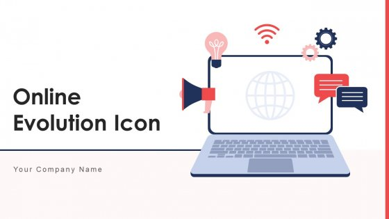 Online Evolution Icon Marketing Ecosystem Ppt PowerPoint Presentation Complete Deck With Slides